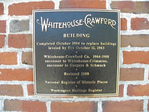 Whitehouse Crawford Plaque
