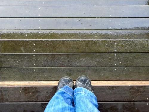 Rain on Steps