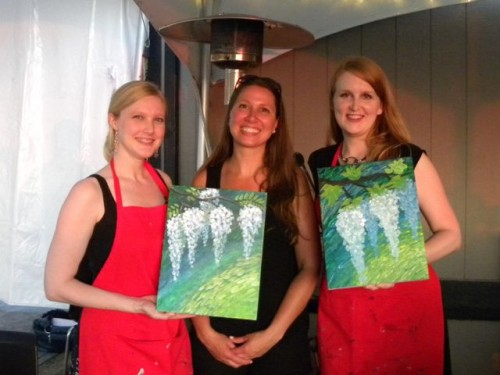 Corks and Canvas Events Wisteria Painting