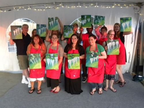 Corks and Canvas Group Shot