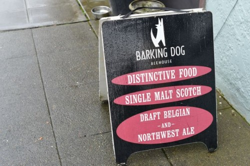 Barking Dog A-Frame Sign